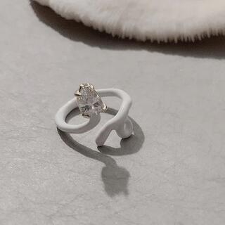 新品◆白ヘビのリング②