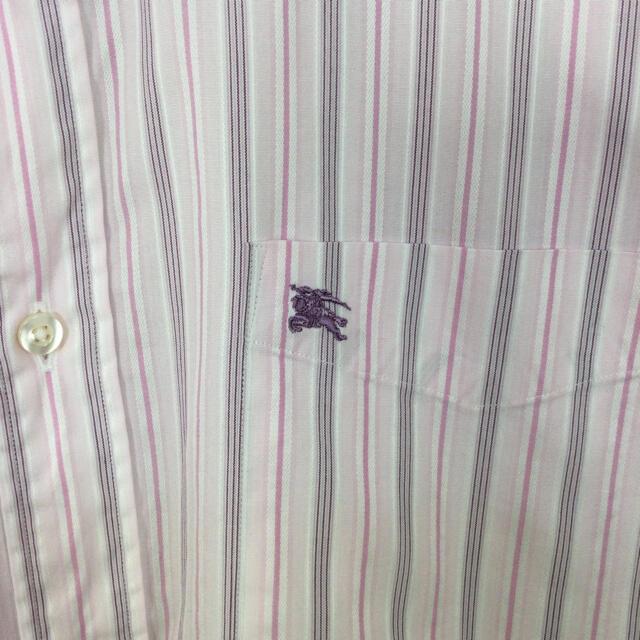BURBERRY(バーバリー)のバーバリーロンドン 半袖BDシャツ マルチストライプ柄 ナイト刺繍 クールビス メンズのトップス(シャツ)の商品写真