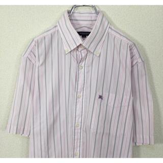 BURBERRY - バーバリーロンドン 半袖BDシャツ マルチストライプ柄 ナイト刺繍 クールビス