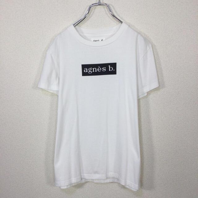 agnes b.(アニエスベー)の【コラボ】アニエスベー×アダムエロペ 半袖Tシャツ ロゴプリント 白色 日本製 レディースのトップス(Tシャツ(半袖/袖なし))の商品写真