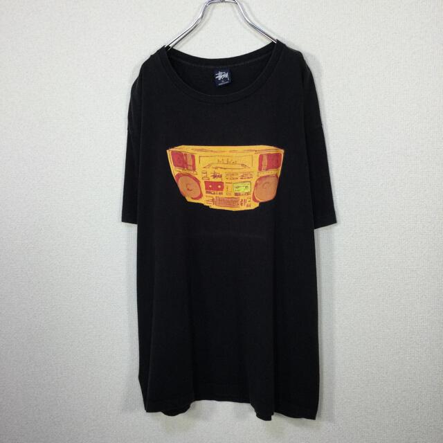 STUSSY(ステューシー)の【紺タグ、USA製】ステューシー/STUSSY 半袖Tシャツ カセットコンポ メンズのトップス(Tシャツ/カットソー(半袖/袖なし))の商品写真