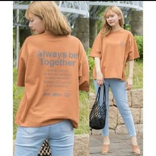 サイズFREE ad thie テラコッタカラー ビッグTシャツ