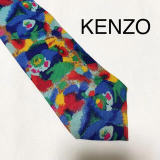 KENZO - KENZO ケンゾー 総柄シルクネクタイ ペイント プリント アート