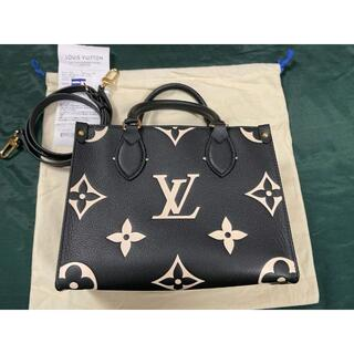 LOUIS VUITTON - ルイヴィトン オンザゴー PM 一番小さいサイズ 黒 2way