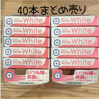 ロッテ ガム キシリトール ホワイト ピンクグレープフルーツ 40本(菓子/デザート)
