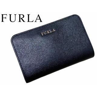 フルラ(Furla)の【美品】FURLA  財布 二つ折り バビロン レザー 黒(財布)