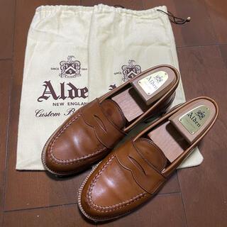 Alden - ALDEN 983 ペニー ローファー ウィスキー カーフ 7.5