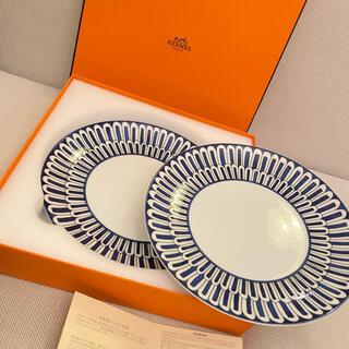 Hermes - エルメス ブルーダイユール デザートプレート皿 (21.5cm) × 2枚!