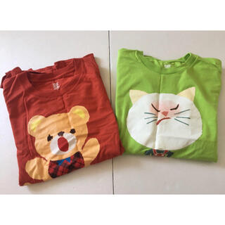 グラニフ(Design Tshirts Store graniph)のgraniph  せなけいこ tシャツ 2枚 いやだいやだ ふうせんねこ くま(Tシャツ(半袖/袖なし))