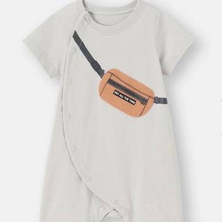GU - GUベビー服 半袖 ロンパース カバーオール 60  サコッシュ