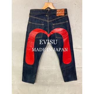 エビス(EVISU)の超美品!EVISU LOT2000 赤ビックカモメセルビッチデニム!日本製!(デニム/ジーンズ)