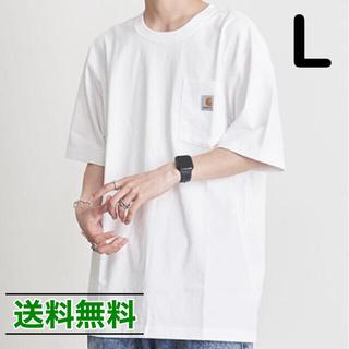 carhartt - 【L】CARHARTT カーハート K87 ポケット Tシャツ 白 ホワイト