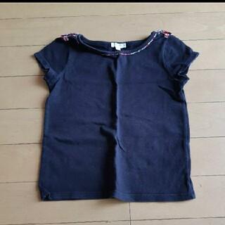 ジャカディ(Jacadi)のジャカディ 半袖Tシャツ 黒 ブラック リバティ フランス子供服(Tシャツ/カットソー)