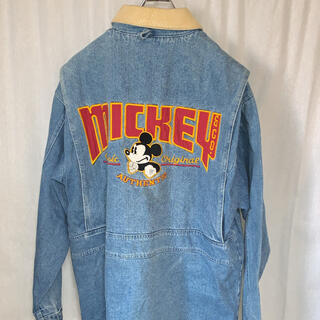 Disney - ディズニー ミッキー&Co ミッキー刺繍デニムジャケット ユニセックス