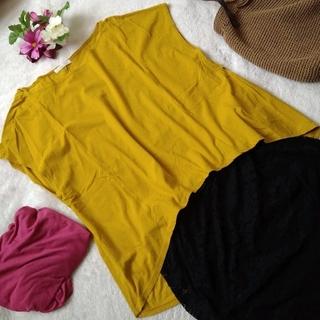 Plage - 美品!プラージュ Plage フレンチスリーブカットソー 日本製 Tシャツ 黄色