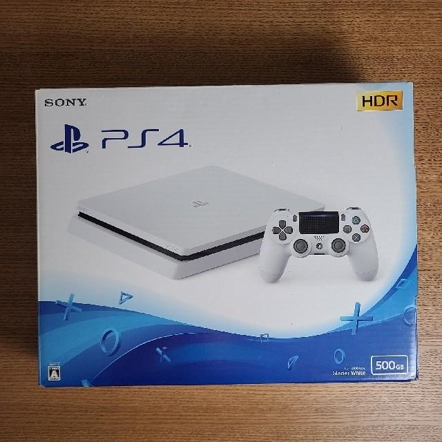 ps4 本体 CUH-2100A 500GB ホワイト エンタメ/ホビーのゲームソフト/ゲーム機本体(家庭用ゲーム機本体)の商品写真