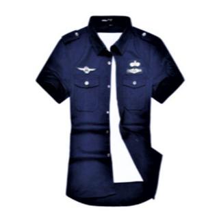 MA1シャツ r1041 ブルー 2XL