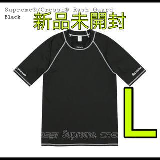 Supreme - supreme cressi rash guard sizeL 黒