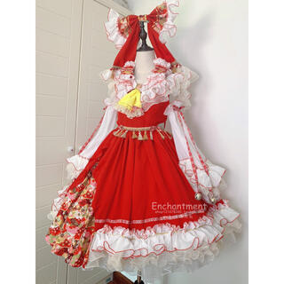 L 最高級東方Project 博麗霊夢 ウィッグ付き完成衣装セット(衣装一式)