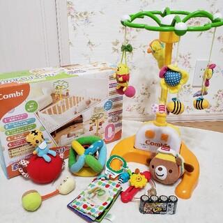 コンビ(combi)のコンビ 森のすやすやメリー 電池付き 赤ちゃん メリー 新生児 おもちゃ(オルゴールメリー/モービル)