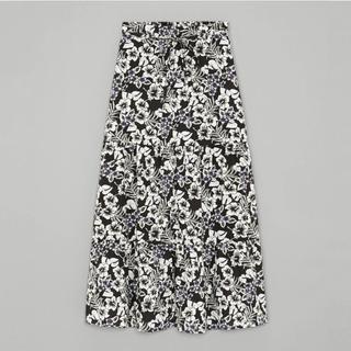 ケイタマルヤマ(KEITA MARUYAMA TOKYO PARIS)のWOMEN アロハプリント ティアードスカート(ひざ丈スカート)