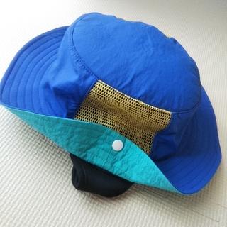 ニシマツヤ(西松屋)の帽子 ハット 子供 キッズ 水陸両用 ブルー 54cm(帽子)