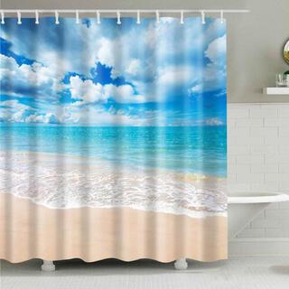 【ビーチ・150×180】 シャワーカーテン バスカーテン ビニールカーテン