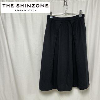 シンゾーン(Shinzone)のTHE SHINZONE シンゾーン リネン スカート 麻 タック 36(ロングスカート)