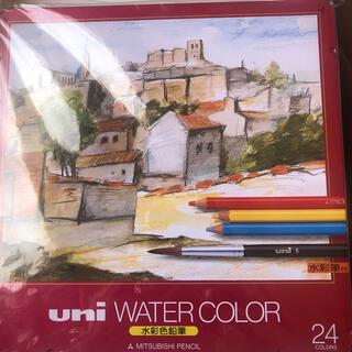 ミツビシエンピツ(三菱鉛筆)の三菱鉛筆 水彩色鉛筆 24色 未開封新品(色鉛筆)