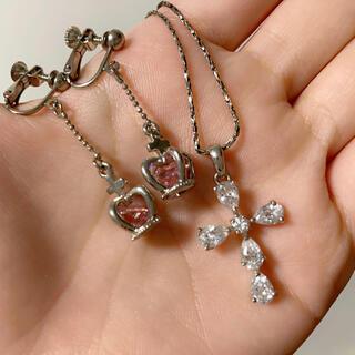 claire's - 王冠イアリングと十字架ネックレスset