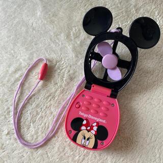 Disney - ストラップ付き ミニーハンディファン ハンディ扇風機 ディズニー公式