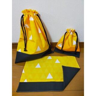 入園準備 入学準備 黄色 巾着 和柄(外出用品)