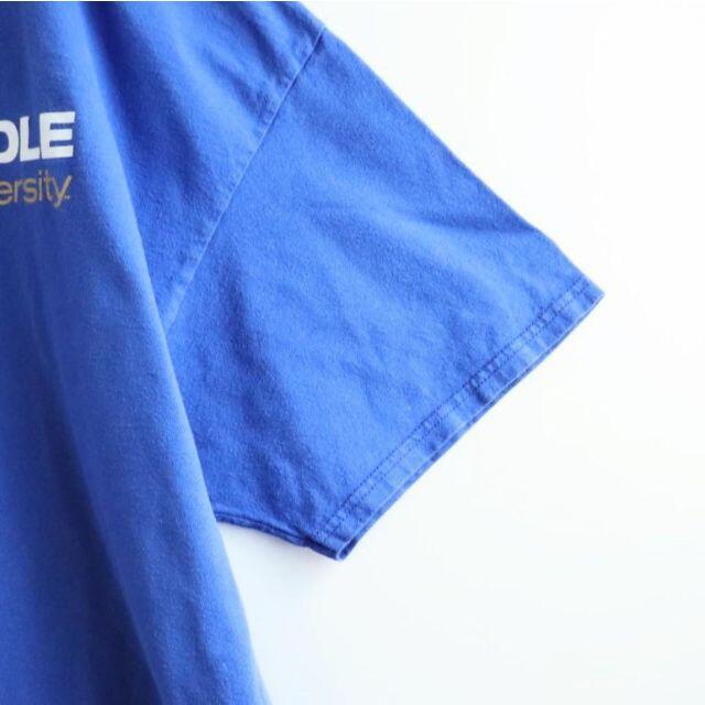 Champion(チャンピオン)の【サマーセール開催】チャンピオン ロゴTシャツ 青ブルー XL シンプル メンズのトップス(Tシャツ/カットソー(半袖/袖なし))の商品写真