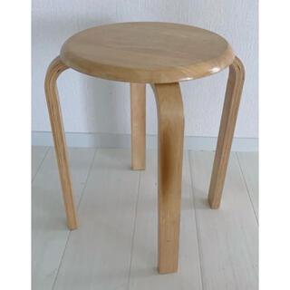 ムジルシリョウヒン(MUJI (無印良品))のシンプル スツール 椅子 (スツール)
