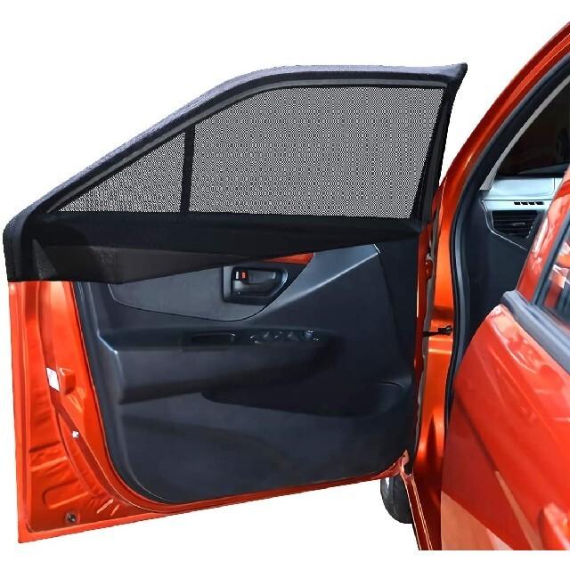 車中泊 車用網戸 遮光サンシェード 2枚入り 虫よけ 日除け 車用品 カー用品 自動車/バイクの自動車(車内アクセサリ)の商品写真
