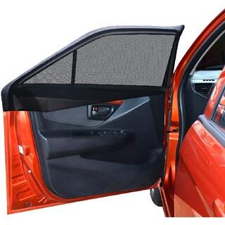 車中泊 車用網戸 遮光サンシェード 2枚入り 虫よけ 日除け 車用品 カー用品