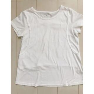 ニシマツヤ(西松屋)の授乳Tシャツ カットソー トップス 半袖 M(マタニティトップス)