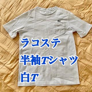 LACOSTE - ラコステ Tシャツ 白T ロゴT レギュラーフィット