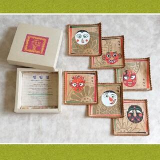 韓国  コースター ( 布製 )  民芸品  6枚セット(テーブル用品)