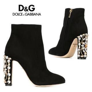 DOLCE&GABBANA - Dolce & Gabbana(ドルチェ&ガッバーナ) ビジューヒールブーツ