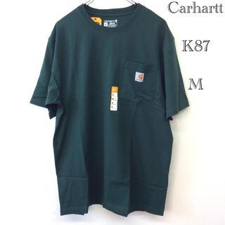 carhartt - カーハート t-シャツ M K87 ハンターグリーン ユニセックス