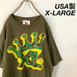 XLARGE - USA製 X-LARGE 渋カラー ビッグロゴ  tシャツ