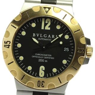 ブルガリ(BVLGARI)のブルガリ ディアゴノ デイト SD38SG 自動巻き メンズ 【中古】(腕時計(アナログ))