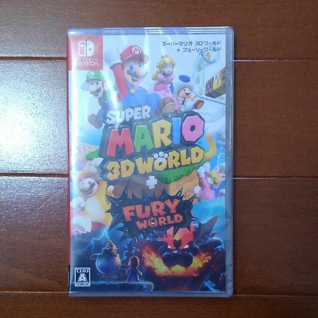 Nintendo Switch(ニンテンドースイッチ)のNintendoSwitchソフト 3Dワールド+フューリーワールド エンタメ/ホビーのゲームソフト/ゲーム機本体(家庭用ゲームソフト)の商品写真