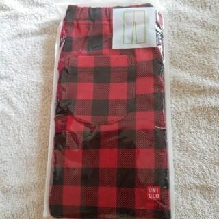 ユニクロ(UNIQLO)の新品 UNIQLO幼児レギンス10分丈 ギンガムチェック赤80cm(パンツ)