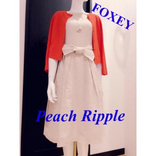 FOXEY - FOXEY  定価12万【美品】ラグジュアリー♡コットンシルクワンピース38