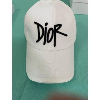 Christian Dior ロゴ キャップ 男女兼用 ホワイト 帽子 #441