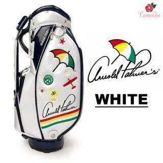 アーノルドパーマー(Arnold Palmer)の新品 アーノルドパーマー エナメル キャディバッグ WH(バッグ)