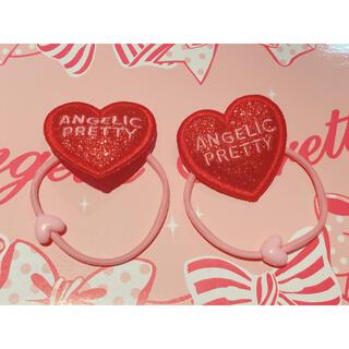 アンジェリックプリティー(Angelic Pretty)のAngelic Pretty グリッターHeartヘアポニーSet(ヘアゴム/シュシュ)