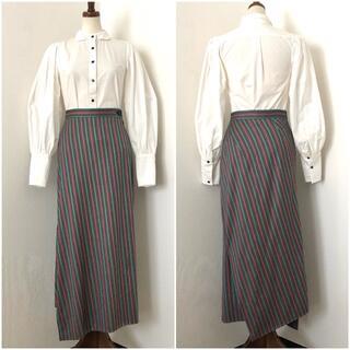 ヴィヴィアンウエストウッド(Vivienne Westwood)のヴィヴィアンウエストウッド 斜めストライプ・変形・ロングスカート・マキシスカート(ロングスカート)